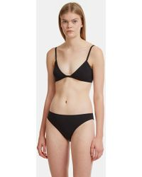 ELLISS - Jersey Triangle Bra In Black - Lyst