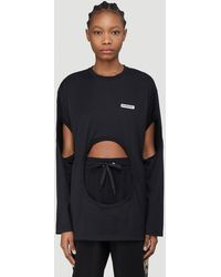 Burberry - Cut-out Long-sleeved Top - Lyst