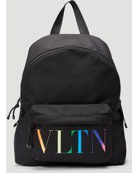 Valentino Vltn Times Backpack - Black