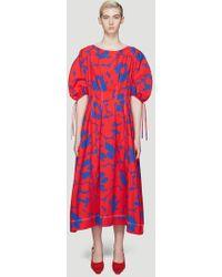 Marni - Belou Print Dress In Red - Lyst