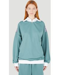 Martine Rose Collared Track Top - Green