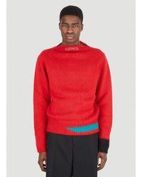 Raf Simons Vintage Knit Jumper - Red
