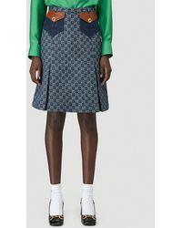 Gucci Eco Washed Organic Denim Skirt - Blue