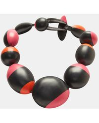 Monies - Bi-colour Ball Chain Necklace In Black - Lyst