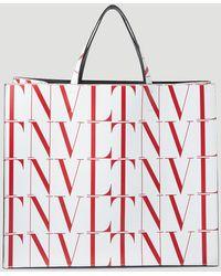 Valentino Garavani Vltn Times Tote Bag - White
