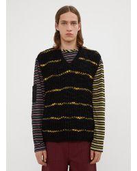 Marni Stripes Knit Vest - Black