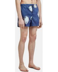 Acne Studios Perry D Swim Shorts In Navy - Blue