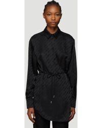 Off-White c/o Virgil Abloh Wrap Around Logo Jacquard Pyjama Shirt In Black