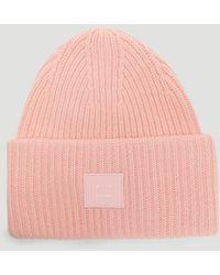 Acne Studios Wool Beanie - Pink