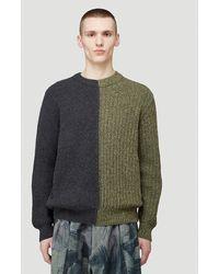Pringle of Scotland Repurposed Split Sweater - Green