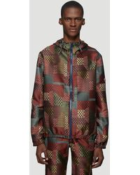 0494a4dd4 Chevron Jacquard Track Jacket In Red
