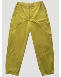 Paria Farzaneh Diamond-seam Trousers - Yellow