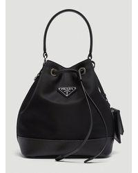 Prada Nylon Bucket Bag - Black