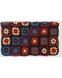 STORY mfg. Crochet Piece Scarf In Blue