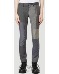 Children of the discordance Tailored Patchwork Trousers - Grey