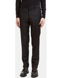 Aiezen Men's Tailored Mohair Pants From In Black