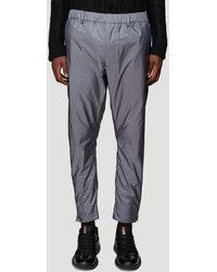 Prada Side-zip Nylon Trousers In Grey - Gray