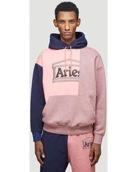 Aries Unisex Pink 100% Cotton. Machine Wash.