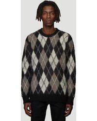 Pringle of Scotland Reissued Argyle Knit Sweater - Black