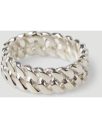 Pearls Before Swine Xs Link Ring - Metallic