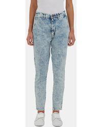 Bassike Women's Low-slung Aged-wash Skinny Jeans In Blue