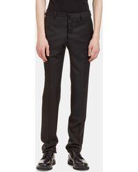 Aiezen Men's I Virgin Wool Slim Leg Tailored Pants In Black