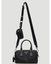 Prada Re-edition 2005 Nylon Shoulder Bag - Black