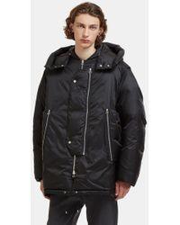 OAMC - Oversized Down-filled Coat In Black - Lyst