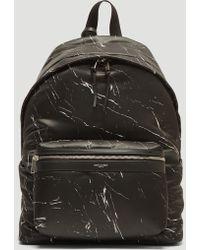 Saint Laurent - Marble City Backpack In Black - Lyst