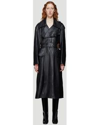 Marni Leather Trench - Black
