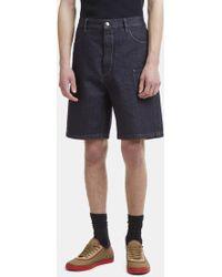 Marni - Oversized Denim Shorts In Blue - Lyst