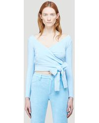 Maisie Wilen Dramady Knitted Top - Blue