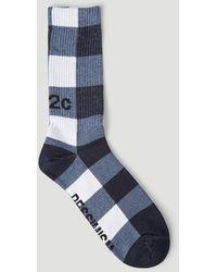 032c Optimism Pessimism Socks - Blue