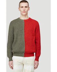 Pringle of Scotland Repurposed Split Sweater - Red