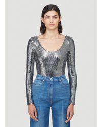 Gucci Metallic Bodysuit