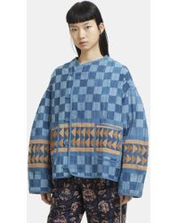 STORY mfg. - Patchwork Jacket In Blue - Lyst