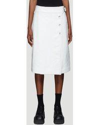 Marni Textured Button-up Skirt - White