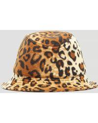 Larose - Cheetah Print Bucket Hat In Brown - Lyst