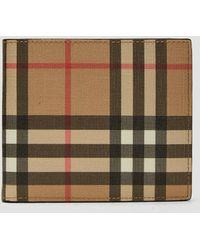 Burberry Vintage Check Leather Wallet - Natural