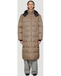 Gucci Graphic Print Padded Coat - Brown