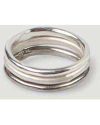 Pearls Before Swine Spliced Band Ring - Metallic