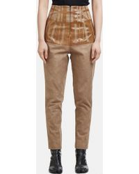 Capara - Tapered Cotton Trousers 9 In Brown - Lyst