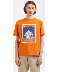 J.W. Anderson | Baseball Card Patch T-shirt In Orange | Lyst