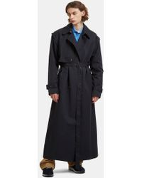 Martine Rose - Long Length Detachable Sleeves Classic Mac Coat In Navy - Lyst