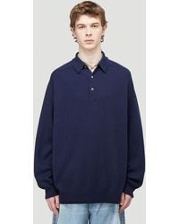 Acne Studios Male Blue 100% Wool. Dry Clean.