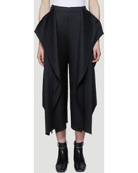 Pleats Please Issey Miyake Draped Pleated Pants In Black