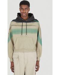 Eckhaus Latta Gradient Stripe Hooded Sweatshirt - Green
