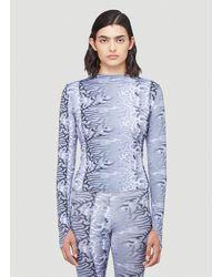 Maisie Wilen - Female Blue 83% Polyamide, 17% Spandex. Dry Clean. - Lyst
