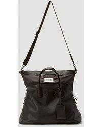 Maison Margiela Leather Tote Bag - Black