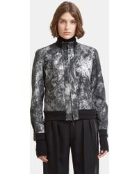 Giorgio Brato - Metallic Brushed Leather Jacket In Black And Silver - Lyst